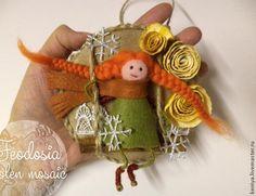 Новогодние украшения: Истории из жизни маленьких человечков - Ярмарка Мастеров - ручная работа, handmade
