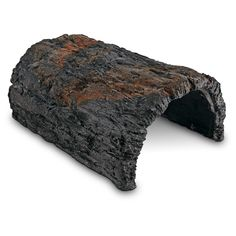 Conceptual Creations Bark Log Reptile Hideaway - An attractive & natural looking hideaway. This realistic looking log is made of non-toxic, pet safe materials & colors. Offers a great place for your pet to hideout or lounge on top for some basking time. - https://www.petco.com/shop/en/petcostore/product/conceptual-creations-bark-log-reptile-hideaway