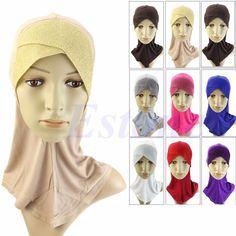 Free Shipping Muslim Hijab Islamic Bonnet Neck Full Cover Inner Head Wear Underscarf Hat Cap #Affiliate