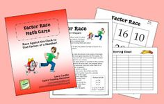 Factor Race Freebie - Cooperative Learning game in which students race against the clock to find factors of a number. Fun!