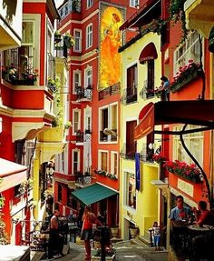 Colorful buildings in Istanbul. Love the old world architecture.