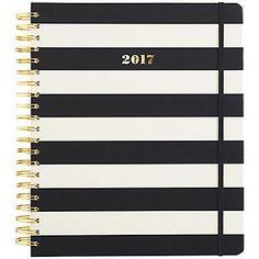 kate spade new york XL Black Stripe Agenda 2016-2017