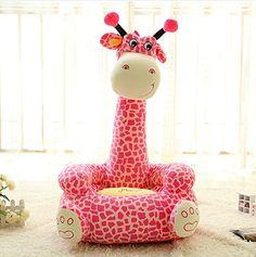 Best price on Luk Oil Children Plush Cartoon Animal Sofa Giraffe Chair (Pink)…