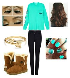 """Lazy Day Outfit"" by teenager-in-distress ❤ liked on Polyvore featuring Victoria's Secret, Armani Jeans and Bling Jewelry"