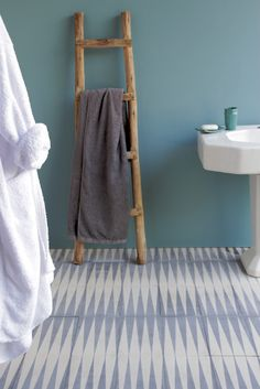 popham design :: cement tiles :: handmade in morocco - LOVE THE TILES AND THE WALL COLOR - maybe for the PARENTS BATH