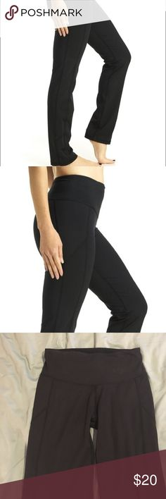 Black straight leg athletic pants Black straight leg athletic pants with sexy side detailing and a smoothing panel waistband by Teez Her. Worn only a couple times, pair with a fun sports bra and hit the studio or the gym! Make me an offer! Teez Her Pants Straight Leg