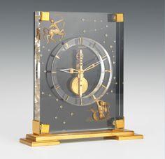 A Rare Le Coultre Astrological Skeleton Clock Clock Decor, Desk Clock, Art Decor, Sistema Solar, Wooden Clock Plans, Antique Clocks, Vintage Clocks, Skeleton Clock, English Decor