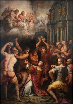 Giorgio Vasari, Martirio di Santo Stefano, 1569-71, olio su tela, 410 x275 cm. Pisa, Chiesa di Santo Stefano