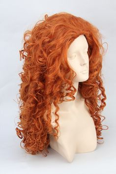Brave merida orange culy wave long synthetic cosplay costume wig.68cm .Free shipping-inCosplay Wigs from Beauty & Health on Aliexpress.com $21.00