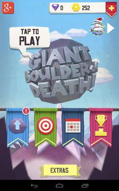 Giant boulder of death: Launch screen