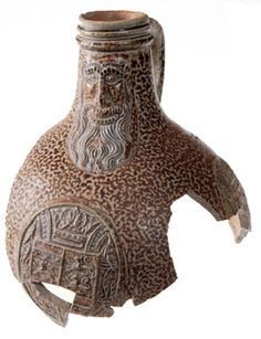Bartmann Jug, circa 1600, discovered Jamestown Island, Virginia