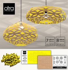 OTRA White-Eco friendly pendant lights-recycled cardboard pendant light, OTRA-Design, made in Canada lights,cardboard lights Cardboard Recycling, Diy Cardboard, Diy Luminaire, Origami Templates, Box Templates, Diy Pendant Light, Pendant Lights, Origami Lamp, Wood Carving Designs