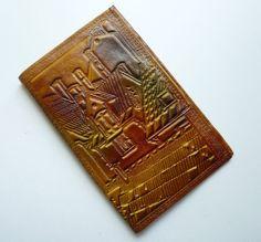 Vintage USSR Soviet Estonian TALLINN Leather Wallet