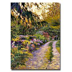 Trademark Fine Art David Lloyd Glover 'Sunset Road Impressions' Canvas Art