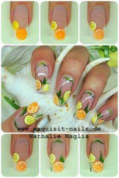 Nail art agrumes by Nathalie Maglia