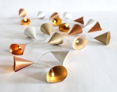 Lichterkette in gold, silber und kupfer für ein gemütliches zu Hause / fairy lights by Lieb-lich via DaWanda.com