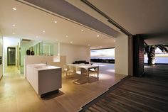 Excellent Design White Dining Room Open Space Living Kitchen