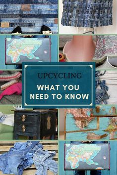 Upcycling is not only good for the environment and pocket but also good for the soul. Don't know where to start then this post will give you lots of repurposing and upcycling DIY and craft ideas big and small for your home. #upcycling Diy Furniture Projects, Repurposed Furniture, Diy Craft Projects, Craft Tutorials, Craft Ideas, Painted Furniture, Diy Ideas, Diy Home Crafts, Fun Crafts