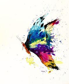Butterfly by ShePaintsVirtue on Etsy