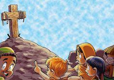 SGBlogosfera. Amigos de Jesús: PREPARAMOS LA SEMANA SANTA Jesus Crafts, Bible Crafts, Idees Cate, Jesus Cartoon, Jesus Artwork, Spiritual Pictures, Flannel Board Stories, Bible Stories For Kids, Sunday School Lessons