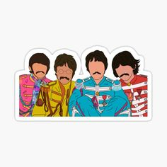 The Beatles Stickers | Redbubble Boy Printable, Printable Stickers, Cute Stickers, Paul Mccartney, Beatles Birthday, Guitar Stickers, Classic Rock And Roll, Lucky Man, Yellow Submarine