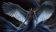 A painting of a warrior angel descending from on high. Warrior Angel, Angel Images, Angel Pictures, Angels Among Us, Angels And Demons, Male Angels, I Believe In Angels, Ange Demon, Archangel Michael