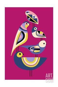 Posters, Art Prints, Framed Art, and Wall Art Collection Geometric Bird, Bird Poster, Nature Artwork, Indian Art Paintings, Art Plastique, Fabric Painting, Bird Art, Bauhaus, Folk Art