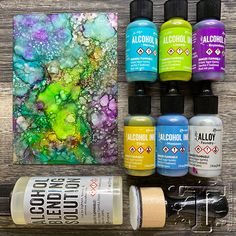 Alcohol Ink Crafts, Alcohol Ink Painting, Alcohol Markers, Alcohol Ink Art, Copic Markers, Sharpie Alcohol, Copics, Distress Ink, Acrylic Pouring