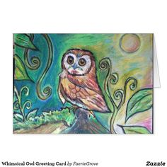 Whimsical Owl Greeting Card