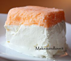 The perfect summer desert! Like a creamsicle but better!