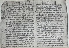 Part of the Welsh version of Brut y Tywysogion found in the Red Book of Hergest Red Books, Writing, History, Primary Sources, Medieval Times, Herbal Remedies, Welsh, Poetry, England