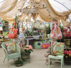 Everlasting Blooms vintage fun flea market booth.