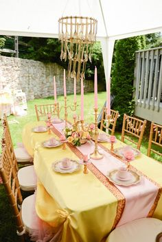 Beauty and the Beast tablescape from @sweetlychicdes