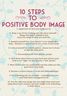 10 Steps to Positive Body | http://greatfoodphoto.13faqs.com