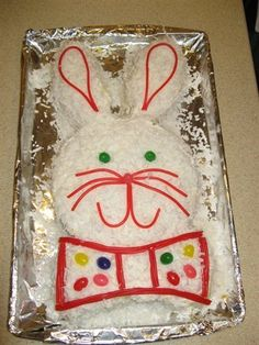 Easter Cake...I used to make 3 cakes very similar to this every spring (one for each child's class).  Not sure what happened with the 4th kid, but I don't think he ever got one :(