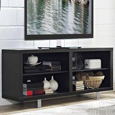 Amazon Com Sauder Edge Water Highboy Tv Stand Estate Black Home