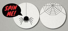 Creamos un taumatropo arácnido para Halloween