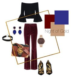 Designer Clothes, Shoes & Bags for Women Polyvore Outfits, Polyvore Fashion, Olivia Burton, Prada, Night, Clothing, Gold, Stuff To Buy, Shopping