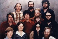 The Microsoft Staff In 1978  Bill Gates lower left. Paul Allen lower right.