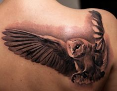 Flying Owl tattoo