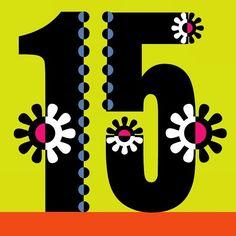 Happy #15th #february #fancy #flower #font #fifteen by @illustrator_eye
