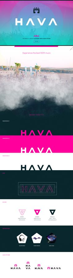 Hava is the EDM Radio concept with a modern futuristic design. Users can listen to their favourites electronic music artists from over the world. Project presentation includes branding and web design.