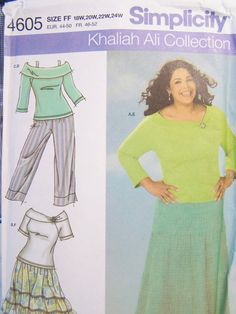 Simplicity 4605 Women's Sewing Pattern Ruffled by WitsEndDesign