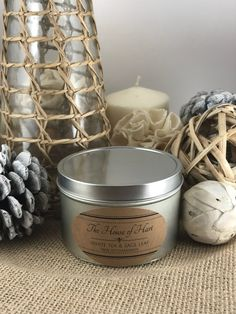 A personal favorite from my Etsy shop https://www.etsy.com/listing/591457908/white-tea-sage-leaf-soy-6-oz-tin-candle