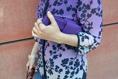 Links of London bangle, Folli Follie bow cutch & Marks & Spencer top Purple Day, Links Of London, Sleek Hairstyles, Oriental Fashion, Collar Top, Style Icons, Bangle, Feminine, Bows