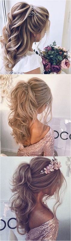 Messy hairstyles Big Waves Wedding Perfect high Braided Ponytail for long hair 2018 #weddings #hairstyles messy braids | messy braids for long hair | messy braids medium hair |