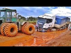 (3) Extreme Tractors #8 - SPECIAL PULLING OUT BIG RIGS ON STUCK MUD #BRAZIL - YouTube