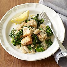 Chicken with Broccoli Rabe and White Beans    6 Points+ for 1 cup.  I used regular broccoli - DELICIOUS!