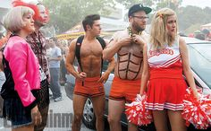 Zac Efron & Seth Rogen Are Rocking Short Shorts in the First Look at 'Neighbors 2: Sorority Uprising'