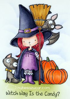 Witch Way Is the Candy? Halloween Mono, Halloween Rocks, Halloween Drawings, Halloween Painting, Halloween Clipart, Halloween Cards, Halloween Themes, Happy Halloween, Halloween Decorations